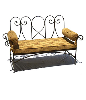 Metal furniture for hotels and houses